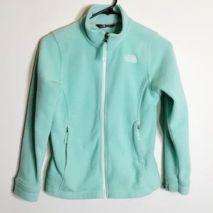 The North Face Mint Green Full ZIP Fleece Sweater